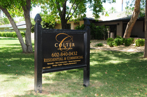 colter construction sign